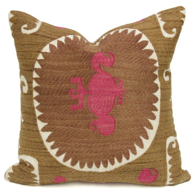 Image of Vintage Suzani Surahi Pillow