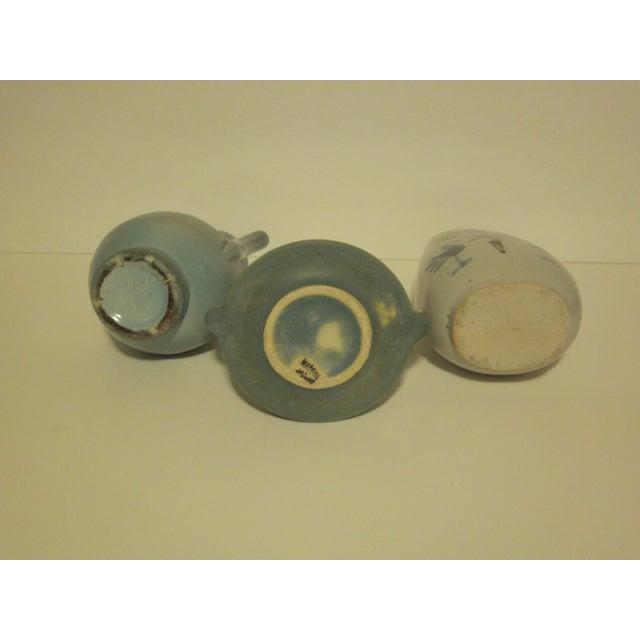 Vintage Aqua Colored Vases - Set of 3 - Image 11 of 11
