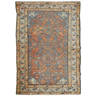 Antique Persian Tribal Style Hamadan Rug - 3′3″ × 4′8″