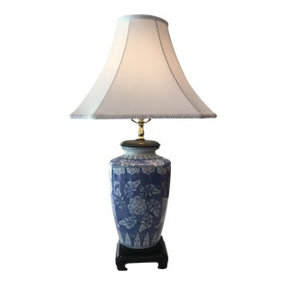 Chinoiserie Floral Table Lamp