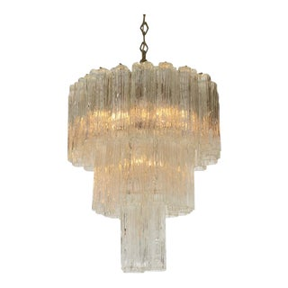 Camer 3 Tiered Tronchi Tube Murano Glass Chandelier