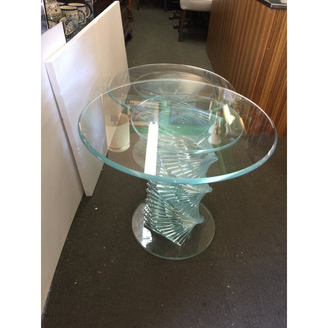 Glass Spiral Side Tables - A Pair - Image 6 of 7