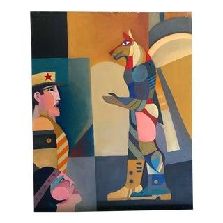 """1978 Chamberlain """"The Idol"""" Pop Art Painting"""