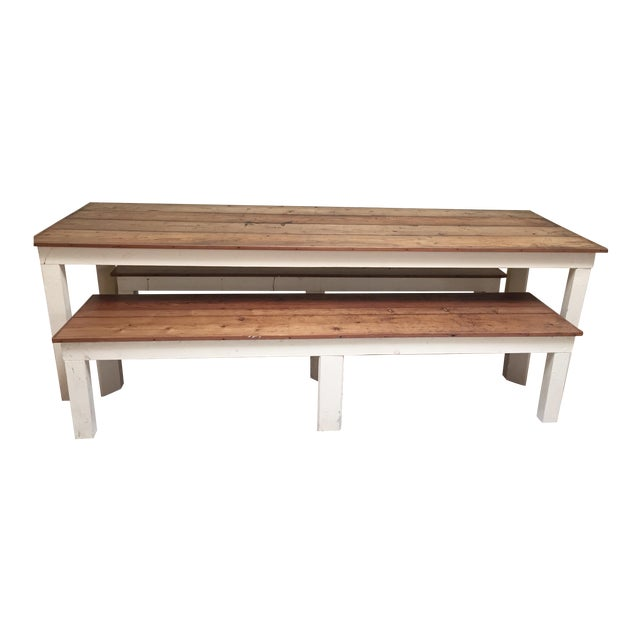 Rustic Dining Table For Indoor Or Outdoor Use Chairish