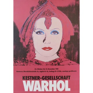 1981 Greta Garbo as Mata Hari, by Andy Warhol