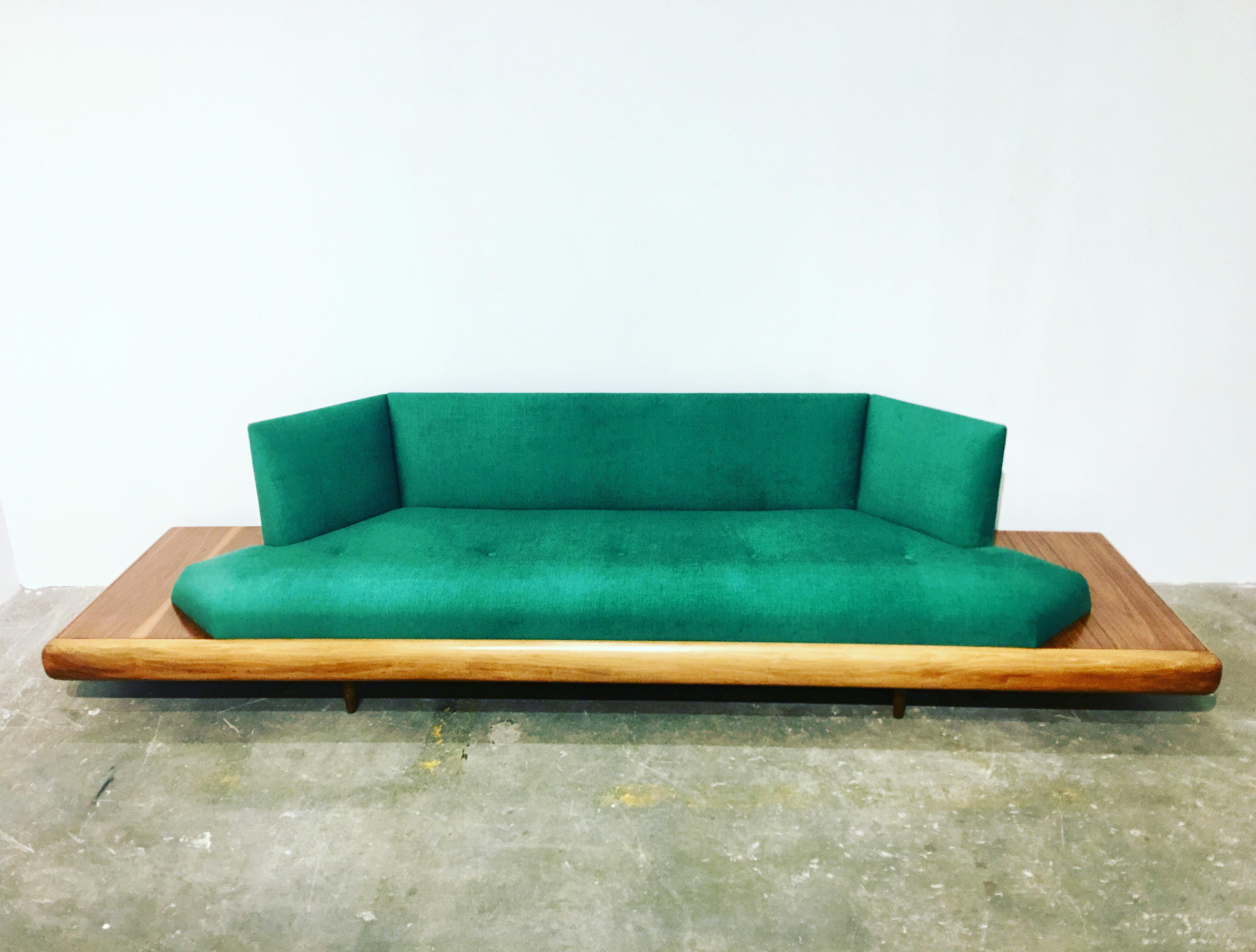 Emerald Green Adrian Pearsall Platform Sofa   Image 3 Of 4