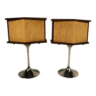 Mid-Century Saarinen Tulip Base Bose Speakers - A Pair