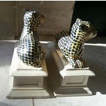 Image of Mid-Century Hollywood Regency Leopard Bookends