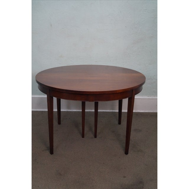 Vintage Solid Mahogany Extension Dining Table Chairish
