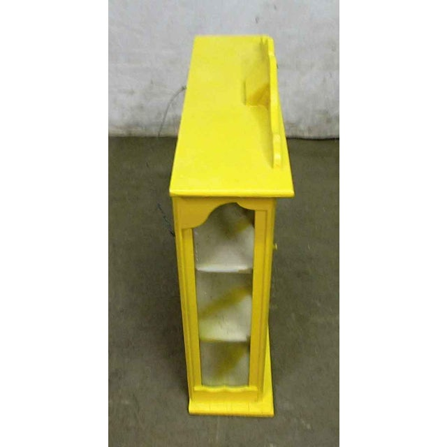 Yellow Painted Curio Cabinet - Image 7 of 8