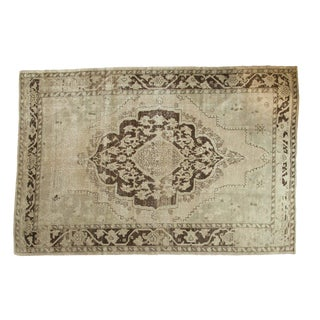 "Vintage Distressed Oushak Carpet - 6'10"" x 10'2"""