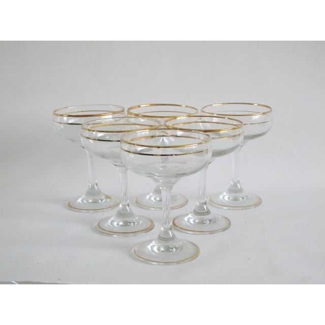 Italian Gilded Champagne Coupes - Set of 6 - Image 4 of 4