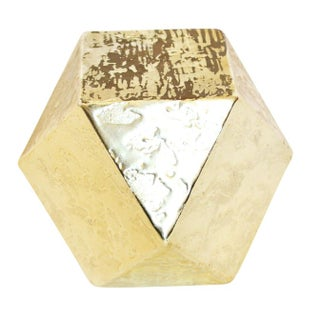 Decorative Hollywood Regency Style Gold Hexagon