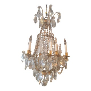 French Baccarat Crystal & Bronze Chandelier
