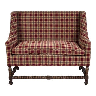Antique Settee With Barley Twist Legs