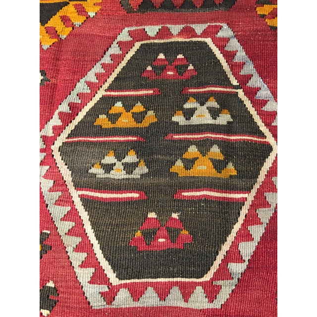 "Bellwether Rugs Vintage Turkish Kilim Rug - 8'8"" x 11'2"" - Image 6 of 9"