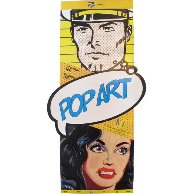 1992 Roy Lichtenstein and Mel Ramos Pop Art Exhibition Poster - Image 1 of 3