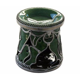 Green Moroccan Ceramic Candleholder/Ashtray