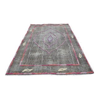 "Turkish Oushak Wool Rug - 6'2"" x 9'7"""