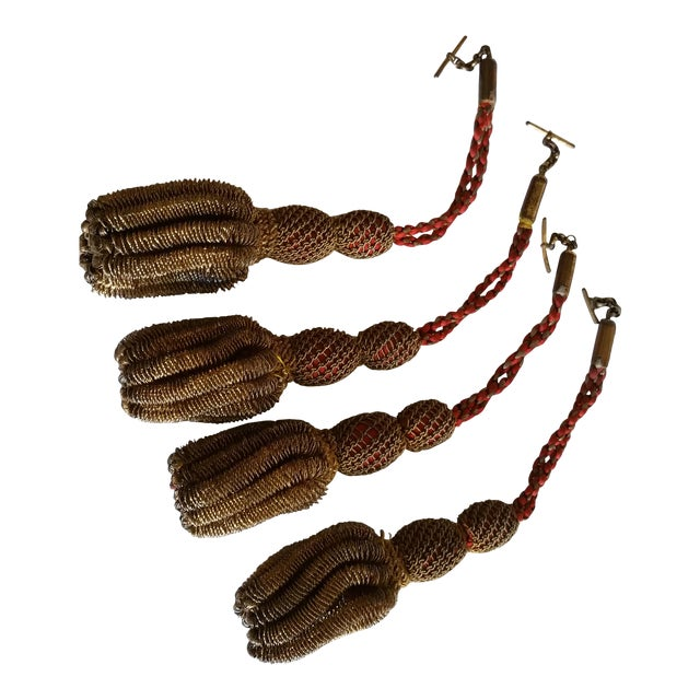 Image of 19th Century Antique French Gilt Tassels - Set of 4