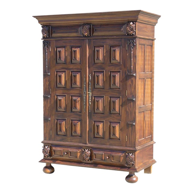 louis xiii armoire chairish. Black Bedroom Furniture Sets. Home Design Ideas