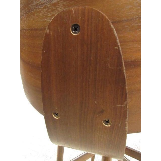 Mid-Century Modern Clamshell Bar Stools - Set of 3 - Image 11 of 11