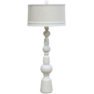 White Floor Lamp with Drum Shade