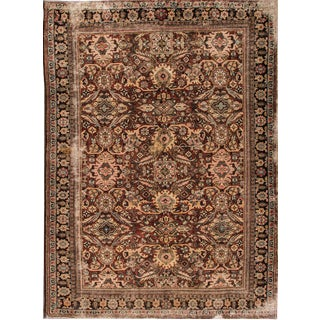 Persian Mahal Distressed Rug- 9' x 12'9""