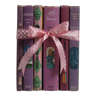 "Midcentury Book Gift Set: ""Lilac"" Stories For Girls - Set of 6"