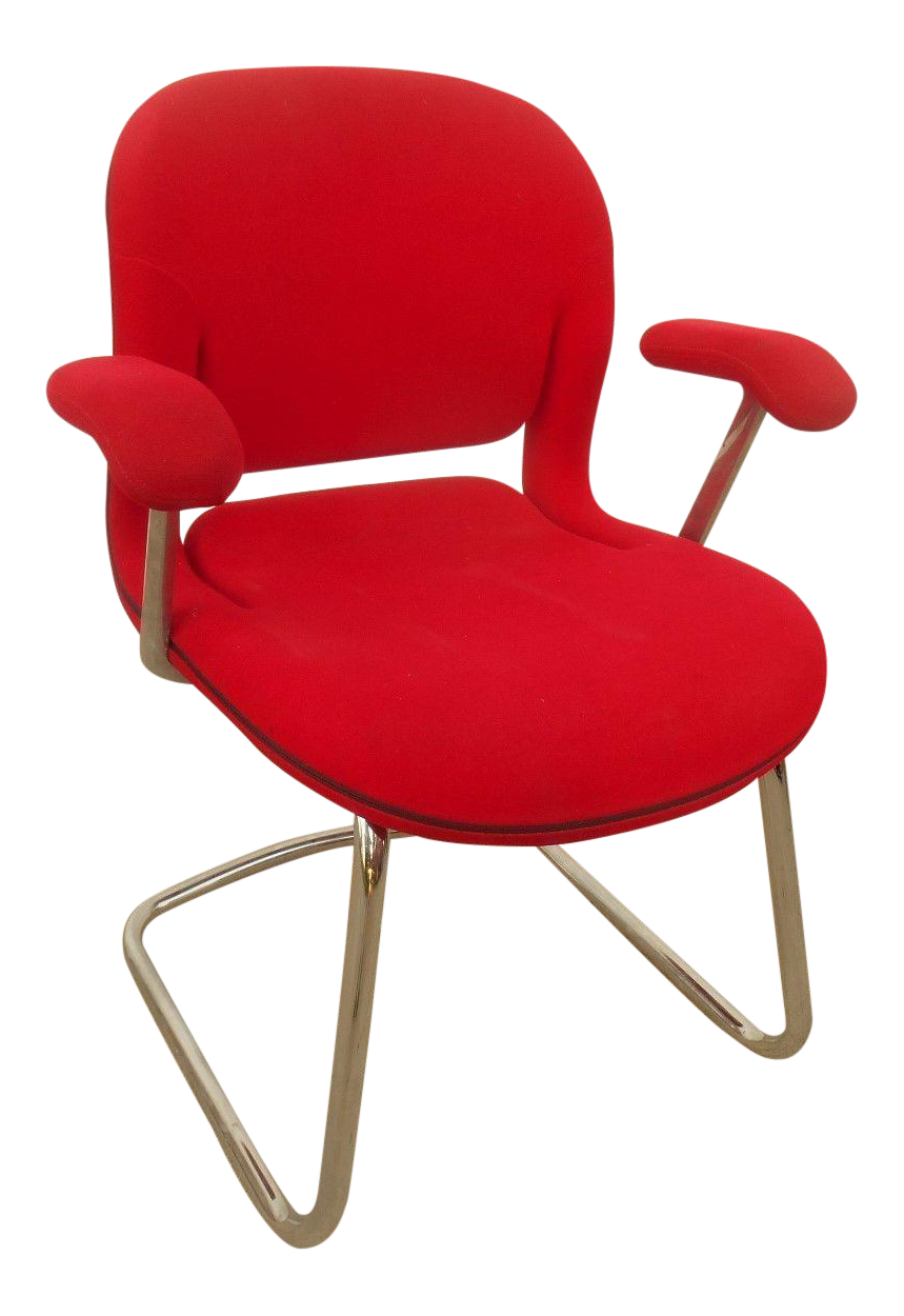 Vintage Used Red Office Chairs Chairish