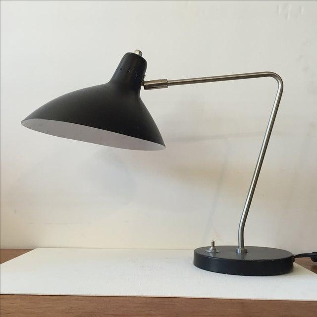 Image of Vintage 1970s Black Desk Lamp