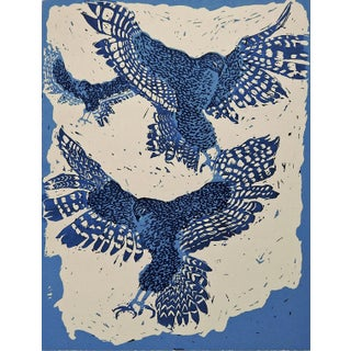 """Soaring"" Hawk Serigraph by Lillian Wilson"