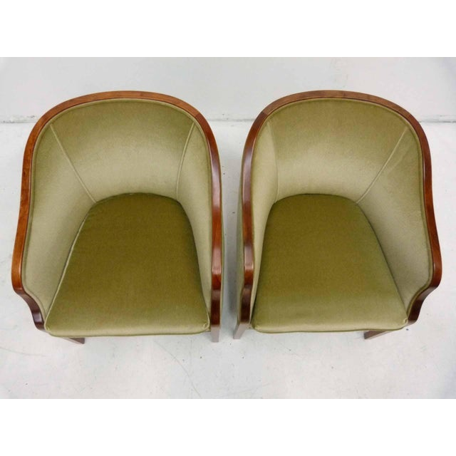 Ward Bennett Mohair Club Chairs - Pair - Image 5 of 10