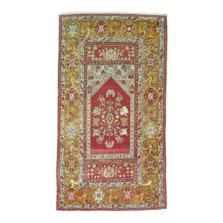 Antique Turkish Oushak Prayer Rug - 3'5'' x 5'10''