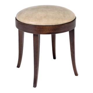 Sarried Ltd Beechwood & Leather Round Stool