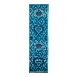 """Suzani Hand Knotted Runner Rug - 3' 2"""" X 10' 10"""""""