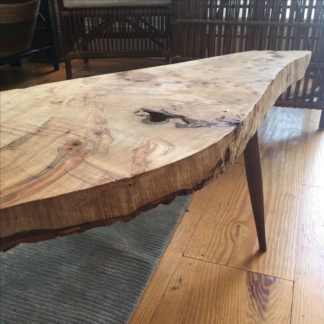 Live Edge Wood Slab Bench or Coffee Table - Image 7 of 9