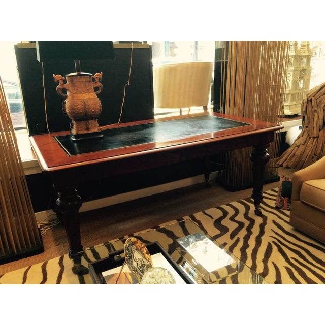 Mahogany & Leather Ralph Lauren Desk - Image 4 of 6