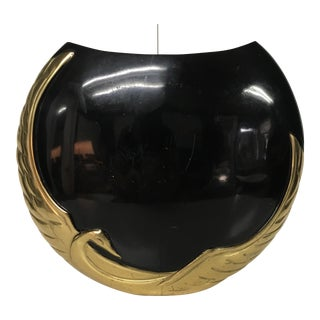 Vintage Black Phoenix Brass Planter / Vase