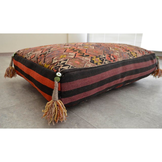 Turkish Hand Woven Floor Cushion Cover - Image 2 of 8