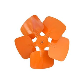 Mid-Century Vibrant Orange Metal Propeller Wheel