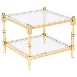 Vintage Maison Raphael Brass & Glass Side Table