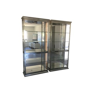 Mirrored Glass Vitrine - A Pair