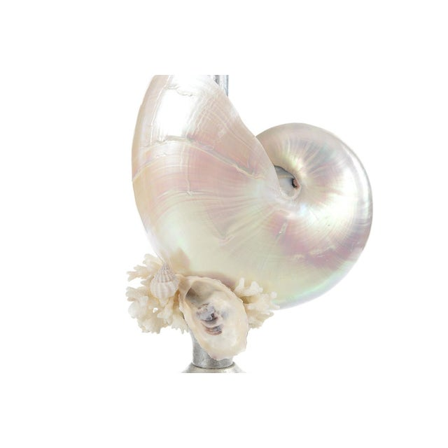 Silver Seashell Table Lamps - A Pair - Image 8 of 8