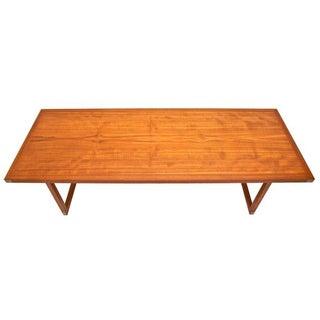 Heltborg Mobler Teak Coffee Table w/ Metal Inlays