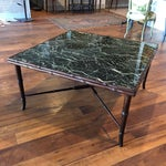 Image of Mid-Century Regency Faux Bamboo Marbled Table