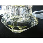 Image of Vintage Stacked Etched Glass Deco Lamps - A Pair