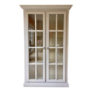 Pottery Barn Glass Door Cabinet