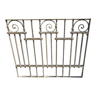 Antique Victorian Iron Gate Window Garden Fence Architectural Salvage Door #023