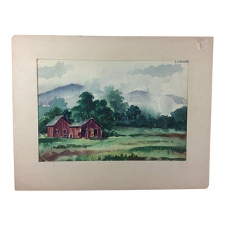 L.J. Miller Landscape Watercolor Painting
